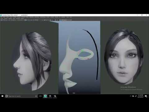 learning model female face 3d maya tutorial