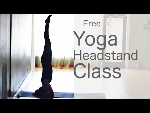 How to do a headstand Vinyasa Flow Yoga Class: Free Yoga with Lesley Fightmaster