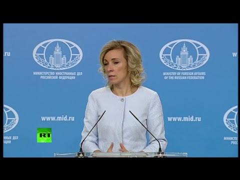 Мария Захарова проводит еженедельный брифинг по вопросам внешней политики - DomaVideo.Ru