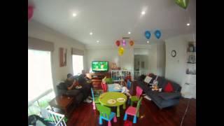 Timelapse: 3yr old birthday party