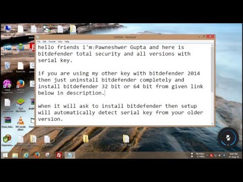 Bitdefender Total Security 2015 Keys for 1 year full cracked all versions