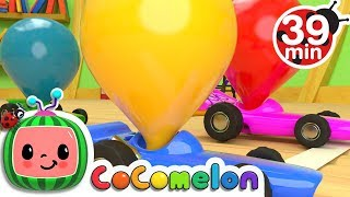 Toy Balloon Car Race | +More Nursery Rhymes & Kids Songs - Cocomelon (ABCkidTV)