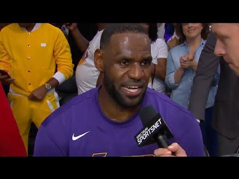 LeBron James Compliments Lakers Team After Win Over Miami Heat