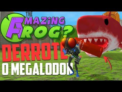 DERROTEI O TUBARÃO GIGANTE VERMELHO! - Amazing frog