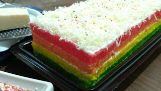 Resep dan Cara membuat Rainbow Cake (Tutorial)