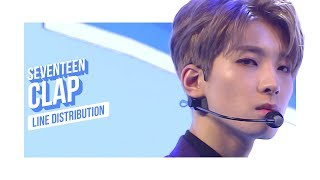 Video SEVENTEEN - CLAP Line Distribution (Color Coded) | 세븐틴 - 박수 MP3, 3GP, MP4, WEBM, AVI, FLV Januari 2018