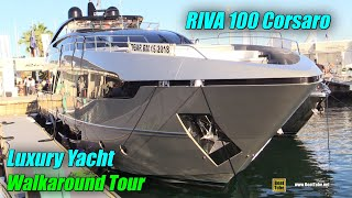 Video 2019 Riva 100 Luxury Yacht - Deck and Interior Walkaround - 2018 Cannes Yachting Festival MP3, 3GP, MP4, WEBM, AVI, FLV Maret 2019