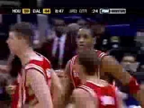 Rockets Highlights vs Mavericks - 2005 Playoffs Game 1