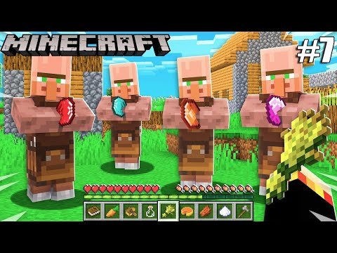 TRANSPORTING VILLAGERS TO MY HOUSE | MINECRAFT | GAMEPLAY #7