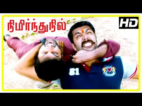 Nimirnthu Nil Movie Scenes | Jayam Ravi demands money from the corrupt officers | Ragini Dwivedi