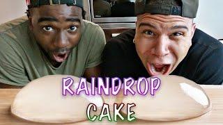 DIY EDIBLE RAINDROP CAKE TASTE TEST!!