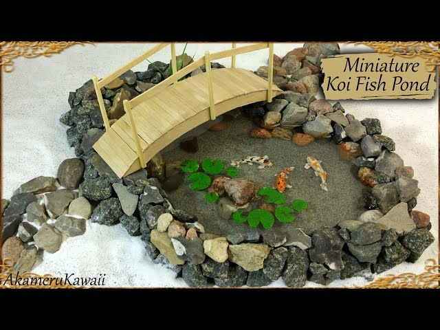 Miniature koi fish pond polymer clay resin tutorial for Miniature fish pond