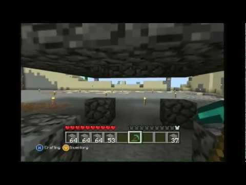 *WORKING!* Minecraft Xbox 360 edition: how to make a Easy mob spawner W/ Commentary!
