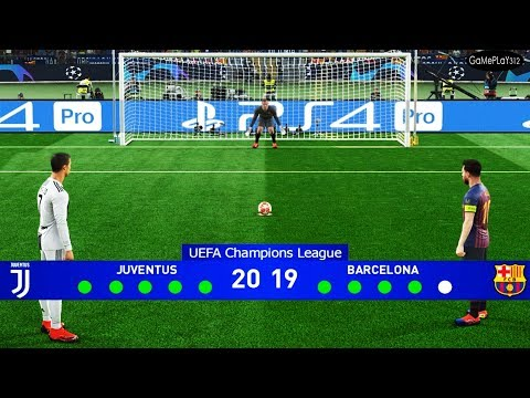 PES 2019 - Juventus vs Barcelona - Final UEFA Champions League UCL - Penalty Shootout