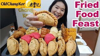 """Eating lots of deep fried snacks from Singapore's popular food and beverage chain Old Chang Kee!! Old Chang Kee is well known for their curry puffs. These savoury hot snacks are so delicious! Sorry that I got some of the puff's names mixed up. Please follow the timeline below for the correct names for the food I've ordered and ate. Hope you enjoyed this fried food eating show and food review. And...uh.. sorry about the little """"accident"""" at the end lol! Thank you for watching!Timeline:2:16 Satay Puff4:09 Chicken Mushroom Puff6:07 Curry Puff7:42 Satay Puff9:36 Sardine Puff11:11 Fishball13:33 Cheese Chicken Sausages14:26 Gyoza16:08 Spring Roll17:23 Crab Nuggets19:04 Prawn Nuggets20:29 Fried Chicken22:40 Apple Puff28:41 Fried Squid (Sotong)30:53 Sotong Balls36:25 Bloopers from my IKEA video39:20 Ending with a """"bang"""" (Sorry!)Support my channel on Patreonhttps://www.patreon.com/peggieneoFood bought from Old Chang Kee (Singapore)http://www.oldchangkee.com/News article about Old Chang Kee opening in London, UKhttp://www.straitstimes.com/lifestyle/old-chang-kee-curry-puffs-head-for-londonCheck out other eating shows of mine!Fried Chicken & Fast Food Mukbang ShowsKFC Curry Crunch Feast https://youtu.be/3FfXPoyrj8AWingstop Chicken Wings Feast https://youtu.be/WI8q9AxCHVsJollibee Fried Chicken Feast https://youtu.be/vNjgW-sOo3EMcDonald's Nasi Lemak Burger https://youtu.be/7yTp7cXTwkUKFC Hot Devil Drumlets https://youtu.be/9tMu3xSWY7gIKEA Food https://youtu.be/CoIlud8hZgsFood Challenge VideosMassive English Breakfast in UK https://youtu.be/3m62-_VtzzEPho Noodles Challenge in UK https://youtu.be/7DOPI6tSy3MRandy Santel's $20 Subway Challenge https://youtu.be/cDPHO3l6nyQ2KG Monster Burrito Challenge https://youtu.be/06yzcYI0LQMConnect with me:Facebook https://www.facebook.com/peggieeatsTwitter https://twitter.com/Peggie_NeoInstagram https://www.instagram.com/neopeggie/Music""""Doobly Doo"""" Kevin MacLeod (incompetech.com)Licensed under Creative Commons: By Attribution 3.0 Licensehttp:/"""