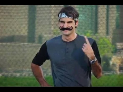 roger - http://www.tennisnow.com/ While he may be best known for his incomparable skill on the tennis court, Roger Federer also has a solid sense of humor. We compil...
