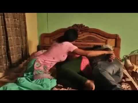 Comedy video during sleeping and a wife slap his husband