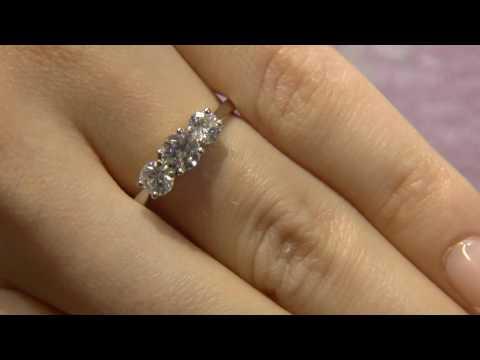 TR1006 Three stone diamond engagement ring
