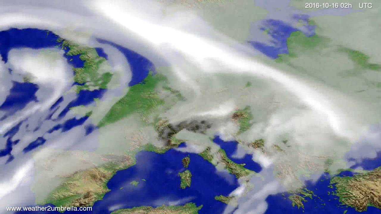 Cloud forecast Europe 2016-10-12