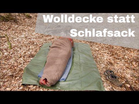 Wolldecke statt Schlafsack - Natural Bushcraft #3