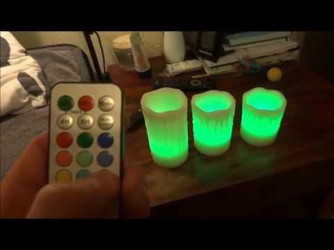 Mooncandles - LED flammenlose Batterie-Kerzen mit