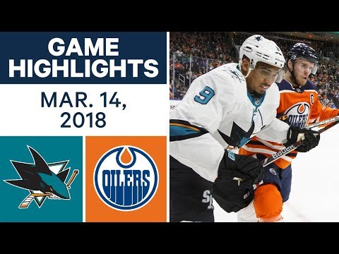 Video: NHL Game Highlights | Sharks vs. Oilers - Mar. 14, 2018