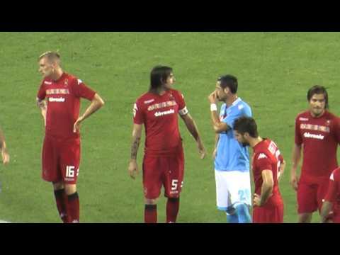 Napoli-Cagliari 3-0 06-05-2014 Rigore Hamsik Sbagliato Live in HD dalla Curva B