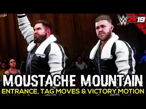 WWE 2K19 Moustache Mountain Entrance, Tag Team Moves, Finisher & Victory Motion  PC Mods