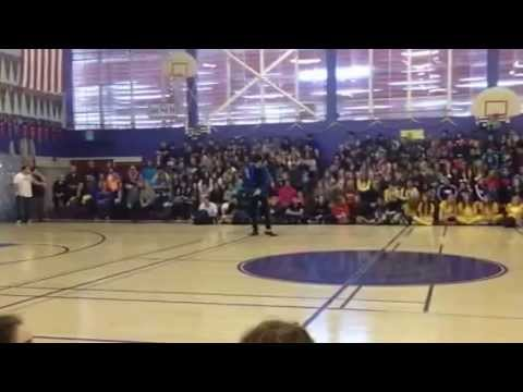 Michael Jackson High School Rally Impersonaror