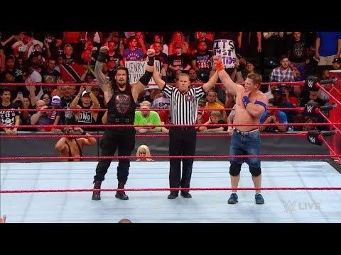 Roman Reigns, john cena vs braun Strowman, the miz tag team match 21 August 2017