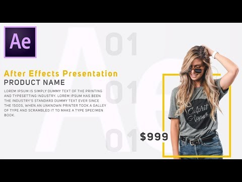 Modern Product Presentation In Adobe After Effects CC - After Effects New Tutorial