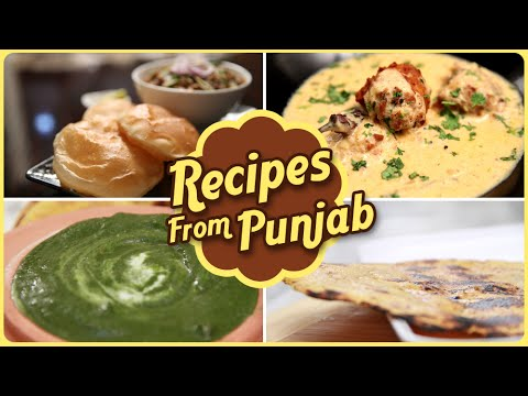 Recipes From Punjab | Quick And Easy To Make Punjab Dishes / Recipes