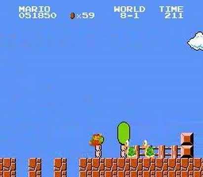 「スーパーマリオブラザーズをBダッシュなしでノンストップクリアの神プレイ」のイメージ