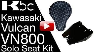 10. INSTALL VIDEO VN800 Seat Kit Solo seat Conversion Kit Kawasaki Vulcan BobberCycle