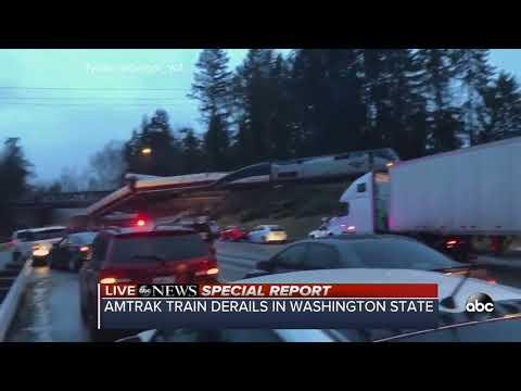 Amtrak train derails in Washington state