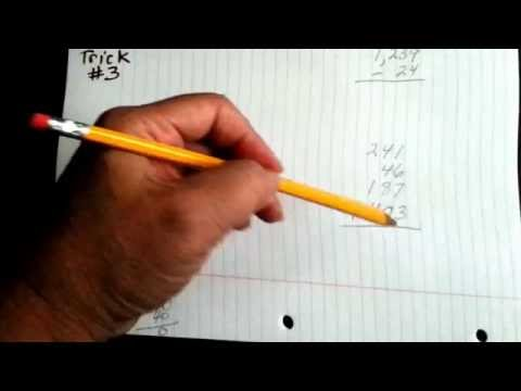 Math homework trick for straight columns (Neat trick #3)