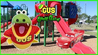 Crashing Toys Cars Accidents will happen at outdoor playground Park for kids Power Wheels Cars