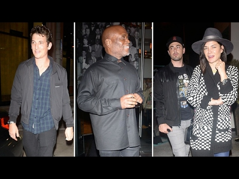Miles Teller Celebrates 30th Birthday With Friends At Catch