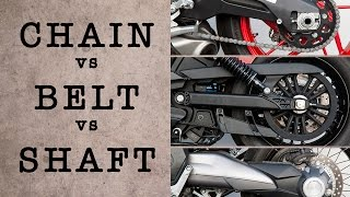 CHAIN vs BELT vs SHAFT - Which System is Best? | MC GARAGE