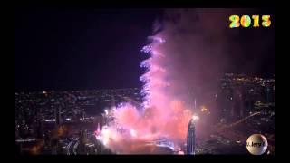 Новый год в Дубай (HD). Фейерверк. Dubai fireworks New Years.