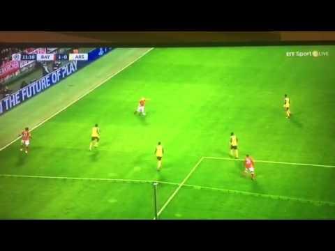 Arjen robben goal 1-0 Bayern Munich vs Arsenal champions league 15/2/17