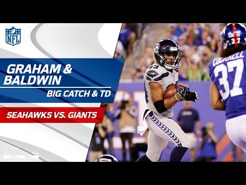 Video: Russell Wilson's Big Throws to Graham & Baldwin on TD Drive! | Seahawks vs. Giants | NFL Wk 7