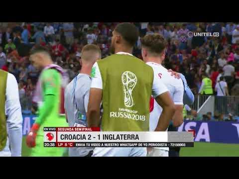 Segunda semifinal: Croacia 2-1 Inglaterra