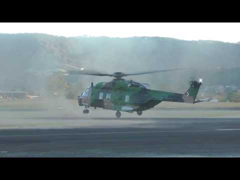 MRH90 Army Helicopter taking off...