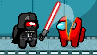LIGHTSABER VS Crewmates In AMONG US!