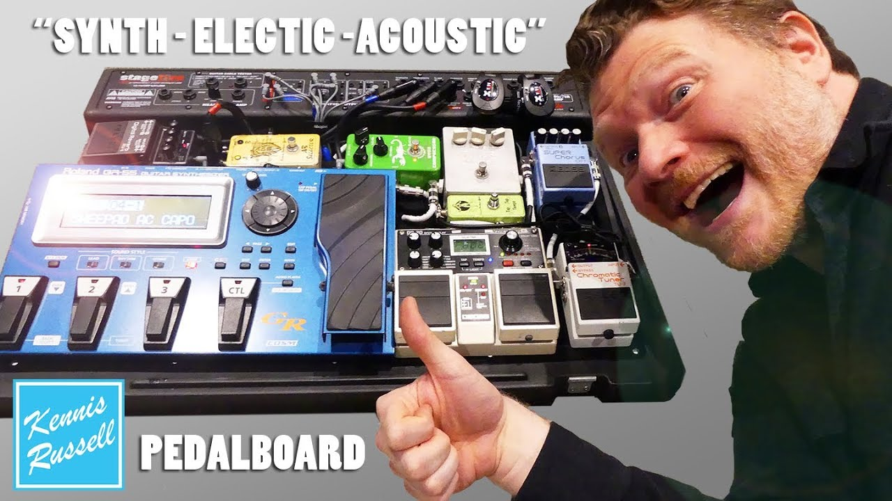 "My New Guitar ""SYNTH + ELECTRIC + ACOUSTIC"" Pedalboard is Finally Finished!!!"