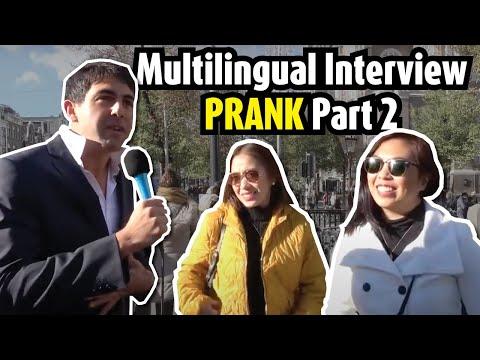Multilingual interview prank- part 2