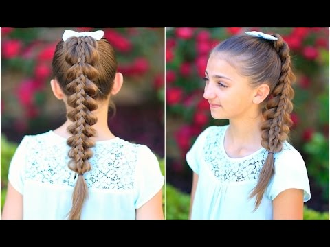 Stacked Pull-Thru Braid | Cute Girls Hairstyles
