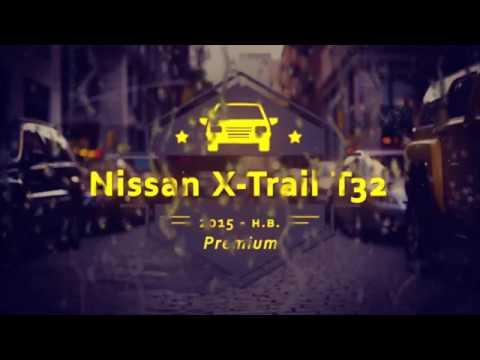 "Чехлы на Nissan X-Trail T32, серии ""Premium"" - серая строчка"