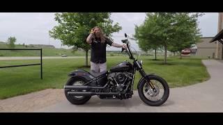 9. The new 2018 Harley Davidson Softail Street Bob at Dillon Brothers Harley Davidson.